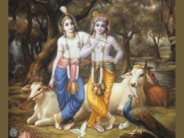 Krishna and Balarama by shyam108