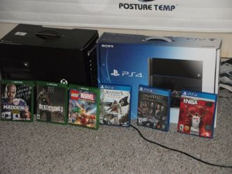 XBox One and PS4 plus the games Photo 1 by Supermutant2099