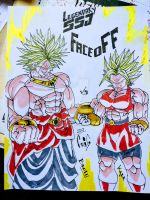 Broly vs kale by ScketchtopiA