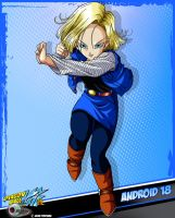 DBKai card #16 Android 18 by Bejitsu
