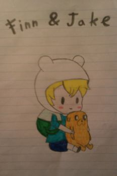 Adventure time with Finn and Jake ( chibi) by LucyRamen