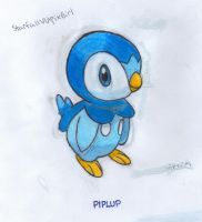 Piplup  (Colored) by StarfallVulpixGirl