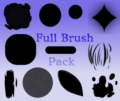 Full Brush Pack [Medibang Paint Pro/Firealpaca] by SpacialHair