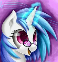Vinyl Scratch portrait by CarligerCarl