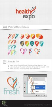 Health Expo Logo Template Kit by GraphicIdentity