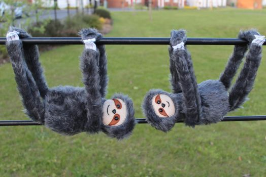 More Plush Sloths by StitchItMama