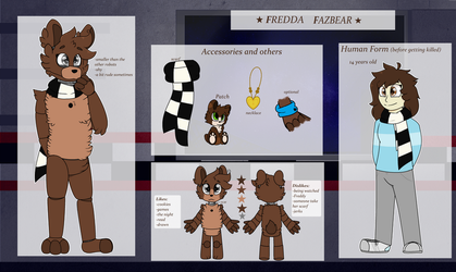 Fredda Fazbear Ref sheet ( new) by Kidademon