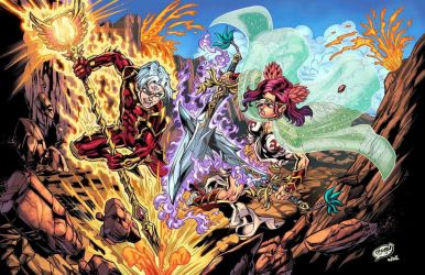 Chronos V Ares (Time N' War) Colors by CdubbArt