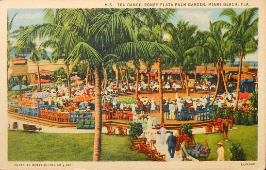 Vintage Miami - Dancing at Roney Plaza Palm Garden by Yesterdays-Paper
