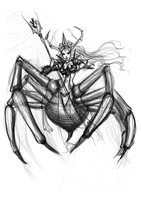 Sketch of A Beautifil Spider by AlexielApril