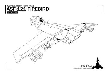 ASF-121 rear lineart by CMG-simplestuff