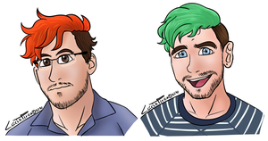Mark and Sean Sketches by LonicHedgehog