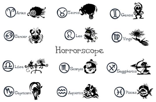 Funny Horrorscope silhouettes. by Bobbart