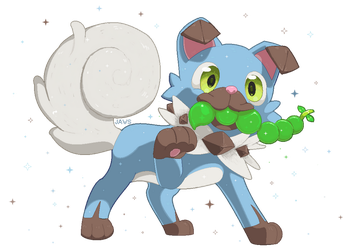 Shiny Rockruff by Willow-Pendragon