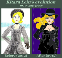 Kitara Lein sketchs meme {Before - After} by Astrogirl500