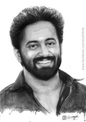 Actor- unni mukundan - watercolour painting by sinjith