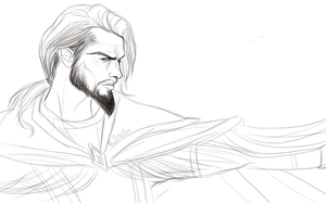 Medivh Sketch by paperdandy