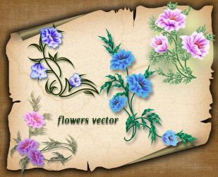Flowers Vector by roula33