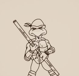 Donatello Line Art by SpiritOfTheWolf87