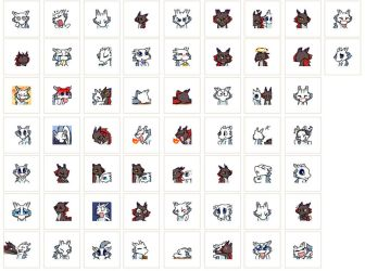 Dragon brothers emoicons by J-C