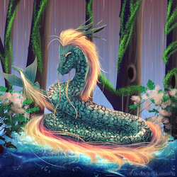 River Serpent by drawingequalslife