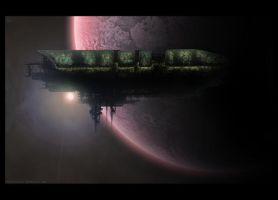 Space ship by PhotoshopStop