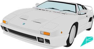 De Tomaso Pantera SI vector by ABS96