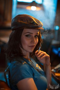 Fallout 4 cosplay - Piper portrait by ver1sa