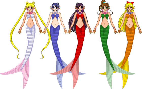 Mermaid scouts 'inners' by Magnolia667