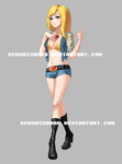 Anime girl Commission $85 by GenghisKwan