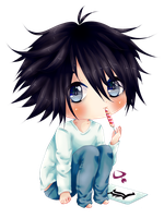 Raffle Prize - Lawliet Death Note by Nonzev