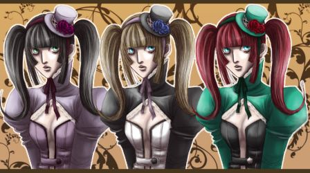 Gothic Amy +Color variation+ by masaero