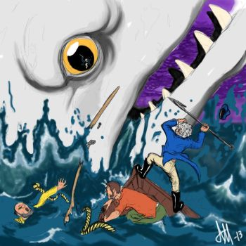 Cap. Ahab and the White Whale by TomahawkTerror