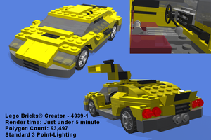 Lego Brick - Cool Car - Render by CobaltWinterborn