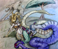 Day 29- Monster Girl and Her Significant Other by Mezzeril