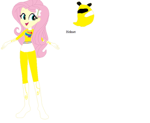 Fluttershy Yellow Ranger by sonicspeedster92