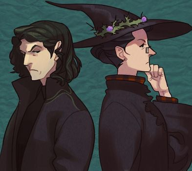 Snape and McGonagall by lastlabyrinth