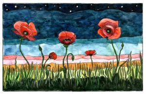 Poppies by Delta-NIFTI