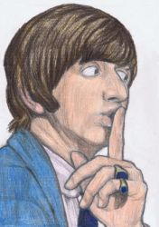 Ringo Starr says shh by gagambo