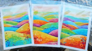 Holiday Cards - Colorful Hills by TooMuchColor