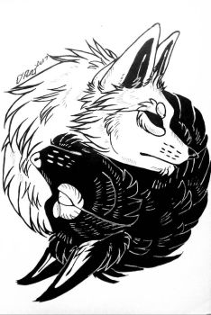 Yin and Yang Wolves (Full)  by Coconeko-chan