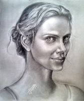 Charlize Theron by mushroomtailer