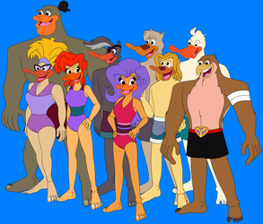 Mighty Ducks In Their Swimsuits by HannahBro