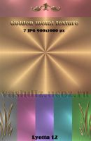Gold metal texture Rainbow by Lyotta