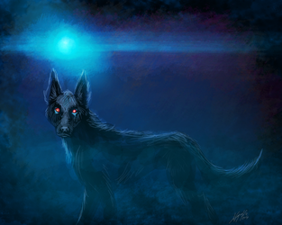 Hairy Jack, the Black Dog by JordanGreywolf