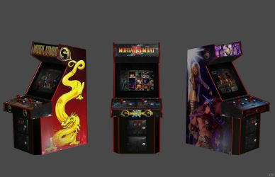 'Mortal Kombat' Arcade Cabinets XPS ONLY!!! by lezisell