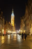 Gdansk by Night 2 by Sabbelbina
