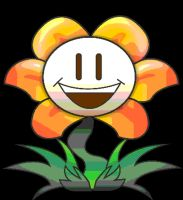 Flowey The Flower Animation (Bounce) by howlingwolf142