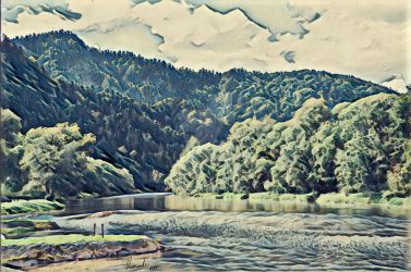 Dunajec riverside by Pappart