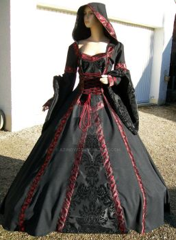 Black-red medieval dress by Azinovic